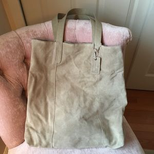 Merona suede tote, never Worn, with tags!
